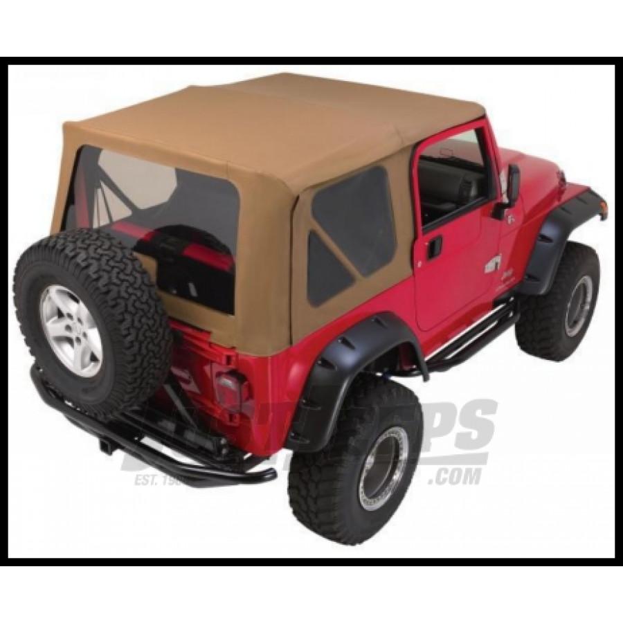 Just Jeeps Buy Rampage Complete Soft Top Kit Spice Denim