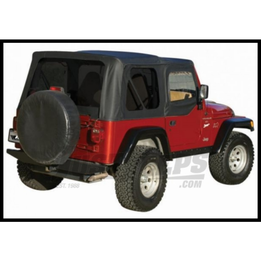 Just Jeeps Buy Rampage Complete Soft Top Kit Black Diamond With ...