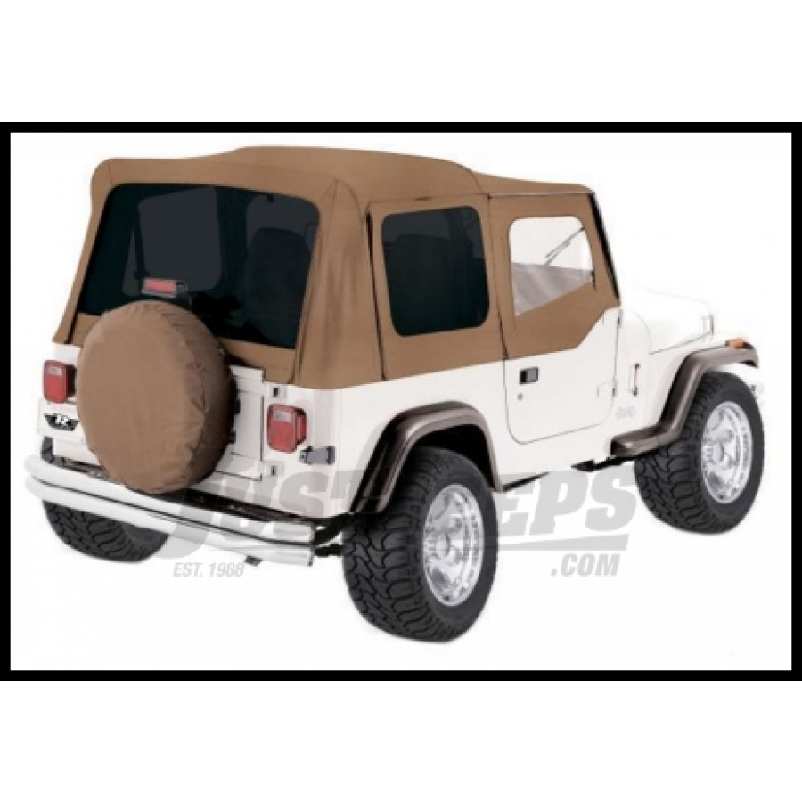 Just Jeeps Buy Rampage Complete Soft Top Kit Spice Denim With Tinted ...