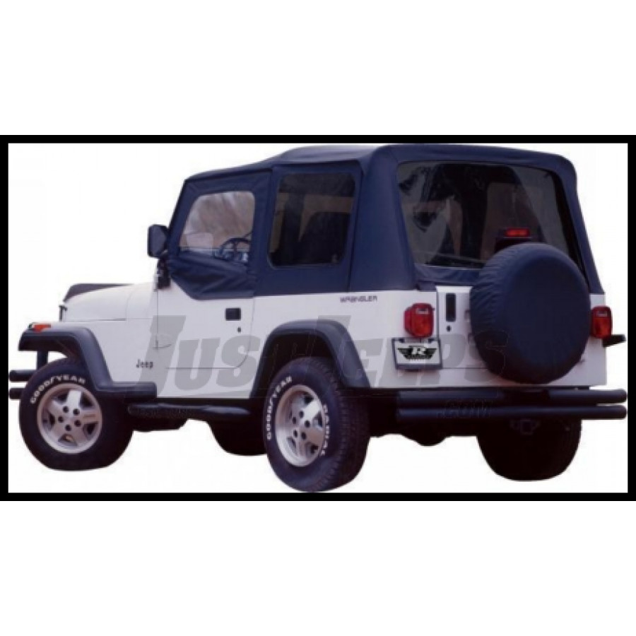 Just Jeeps Buy Rampage Complete Soft Top Kit Black Denim With Tinted ...