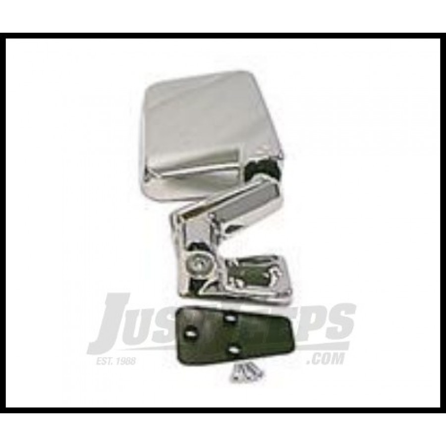 Just Jeeps Buy Rugged Ridge Passenger Side Mirror Chrome