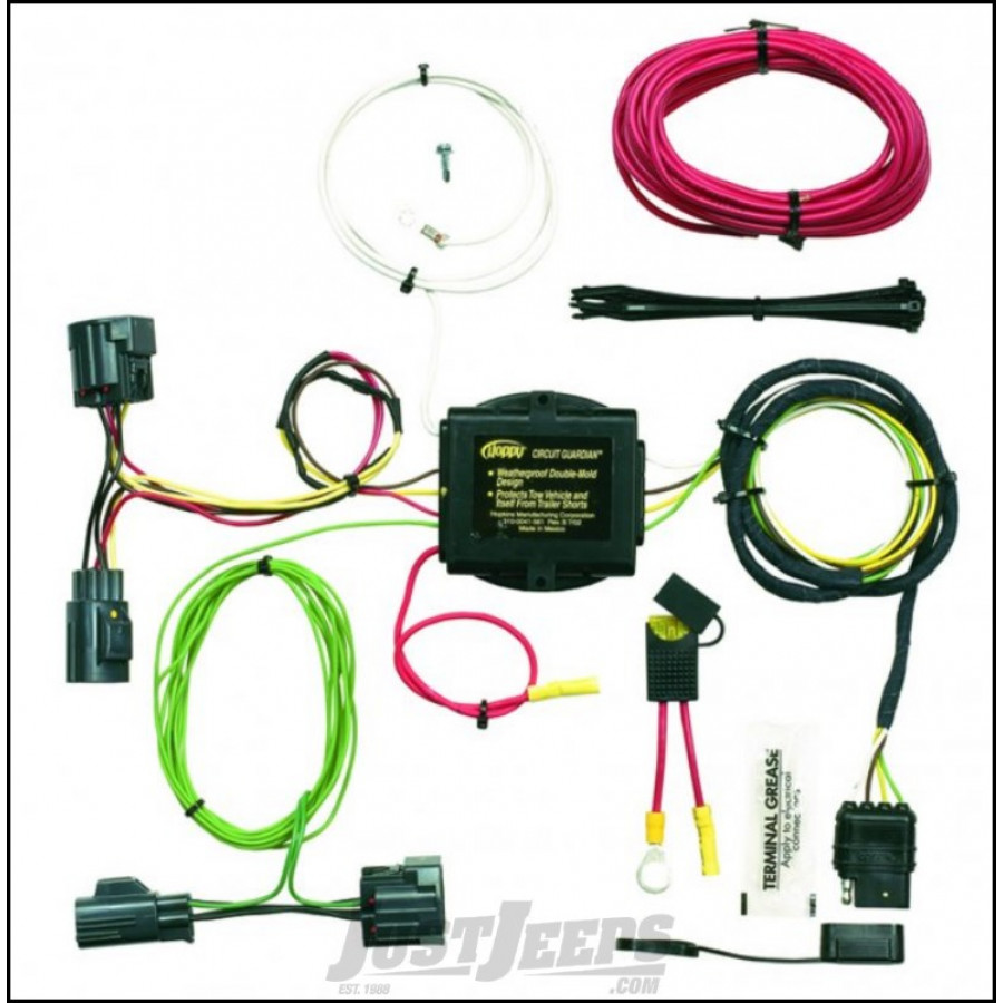 trailer wiring harness for jeep liberty jeep parts buy hopkins simple plug-in trailer wiring ...