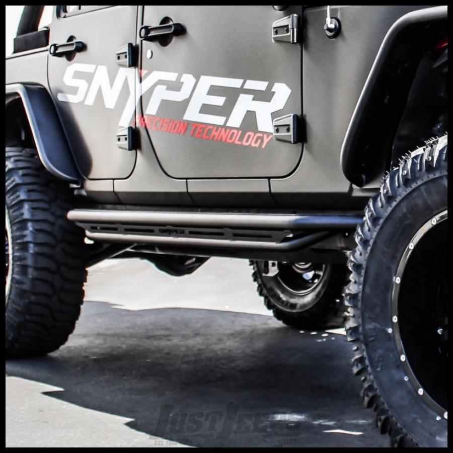 Westin Triple Tube Rock Rails In Textured Powdercoated Black For 2007+ Jeep  Wrangler JK Unlimited 2 Door Models