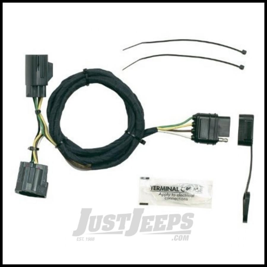 Jeep Wrangler Jk Door Wiring Harness : Just jeeps buy hopkins simple plug in trailer wiring
