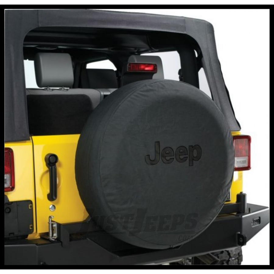 Just Jeeps Buy Jeep Tire Cover In Black Denim With Black