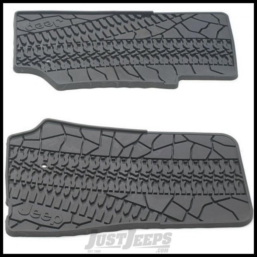 just jeeps buy mopar front floor mat set with jeep logo slate grey for 2007 13 jeep wrangler jk. Black Bedroom Furniture Sets. Home Design Ideas