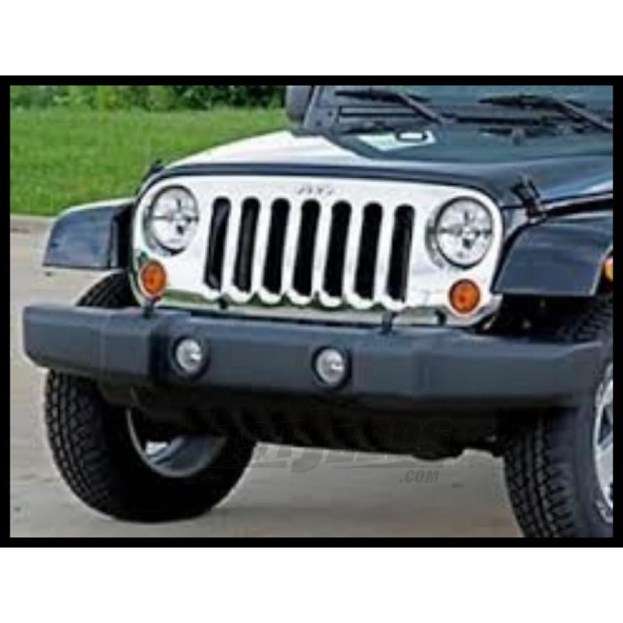 Just Jeeps Buy Mopar Chrome Grille For 07 Jeep Wrangler