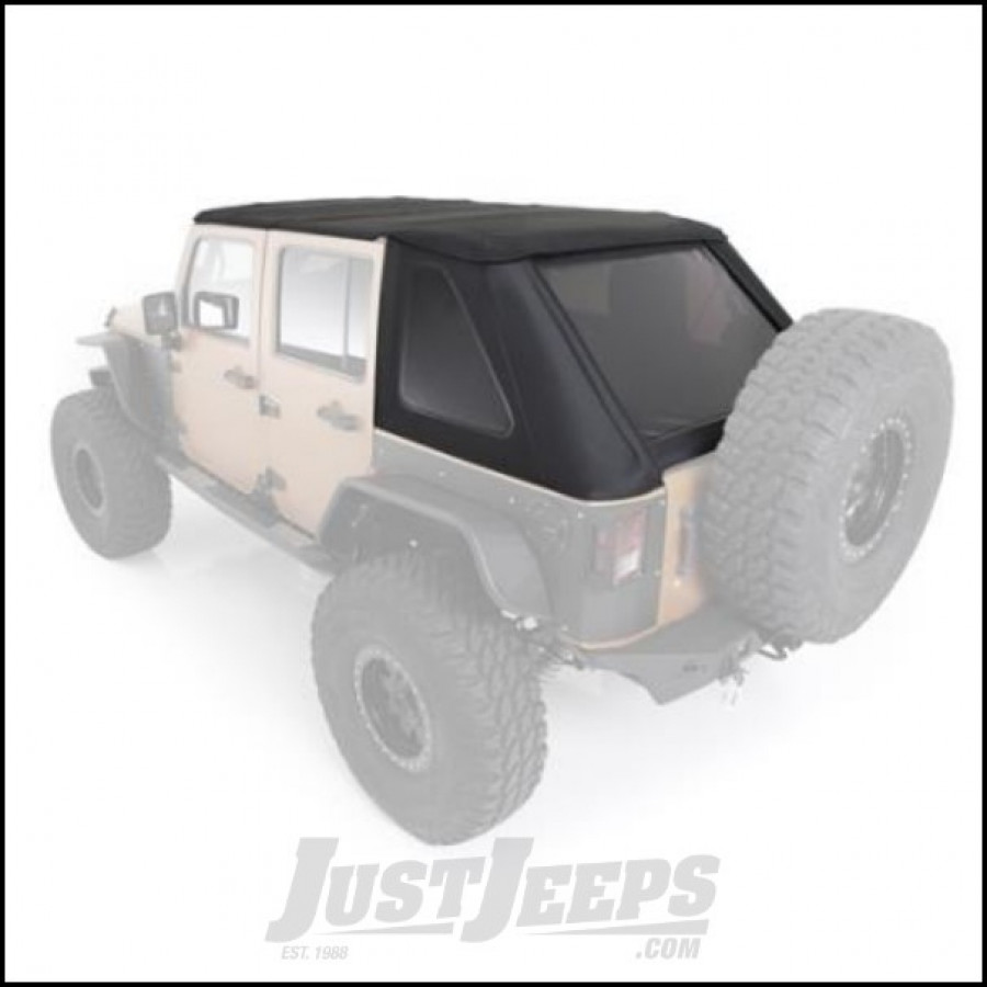 Just Jeeps Buy SmittyBilt Bowless Combo Soft Top Kit In ProT3k Black ...