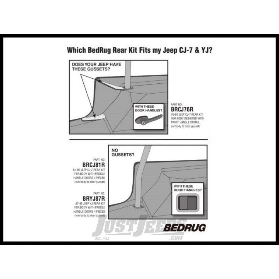 Bedrug Premium Carpeted Rear Floor Covering For 1980 86 Without Gussets Jeep Cj 7