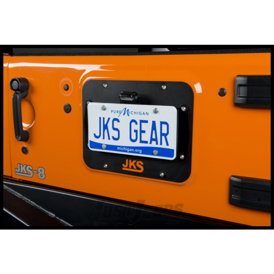 Just Jeeps Buy Jks Tailgate Mount License Plate Relocation