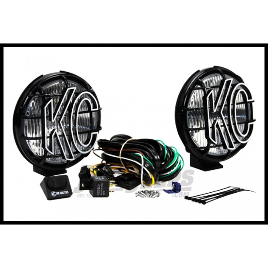 Just Jeeps Buy Kc Hilites 6 Apollo Pro Series 100 Watt Fog Light Jeep Cj7 Subwoofer System With Stone Guards In Black
