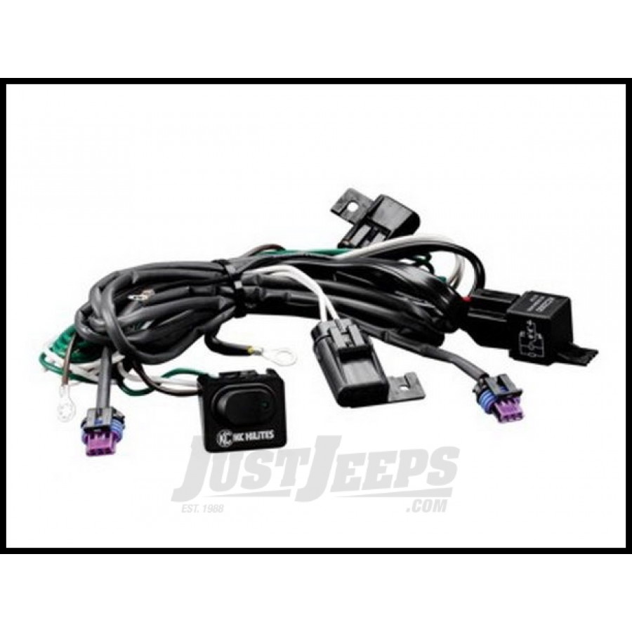 just jeeps buy kc hilites h i d wiring harness with relay. Black Bedroom Furniture Sets. Home Design Ideas