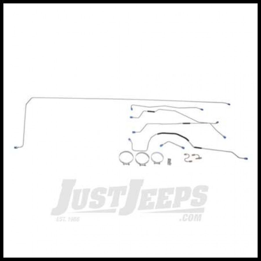 Omix Ada Brake Line Kit Steel Preformed 1955 65 Cj5 With 10 Rear Drums as well  on willys jeep brake drums