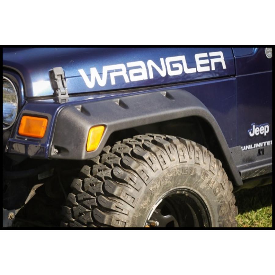 "1999 Jeep Wrangler Fenders: Just Jeeps Buy Rugged Ridge All-Terrain 4.75"" Fender Flare"