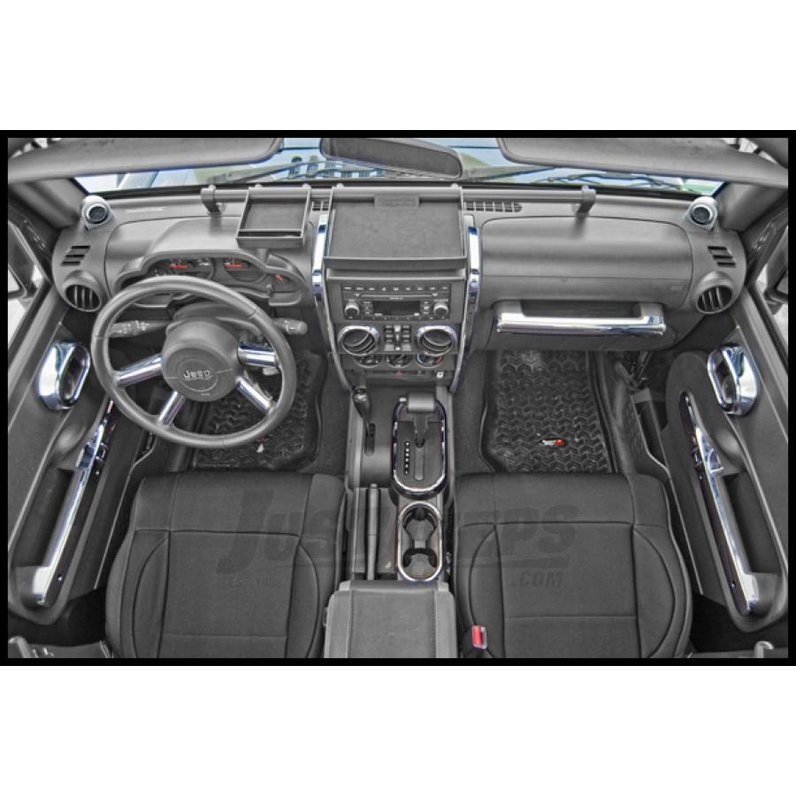 Just Jeeps Buy Rugged Ridge Interior Trim Kit In Chrome