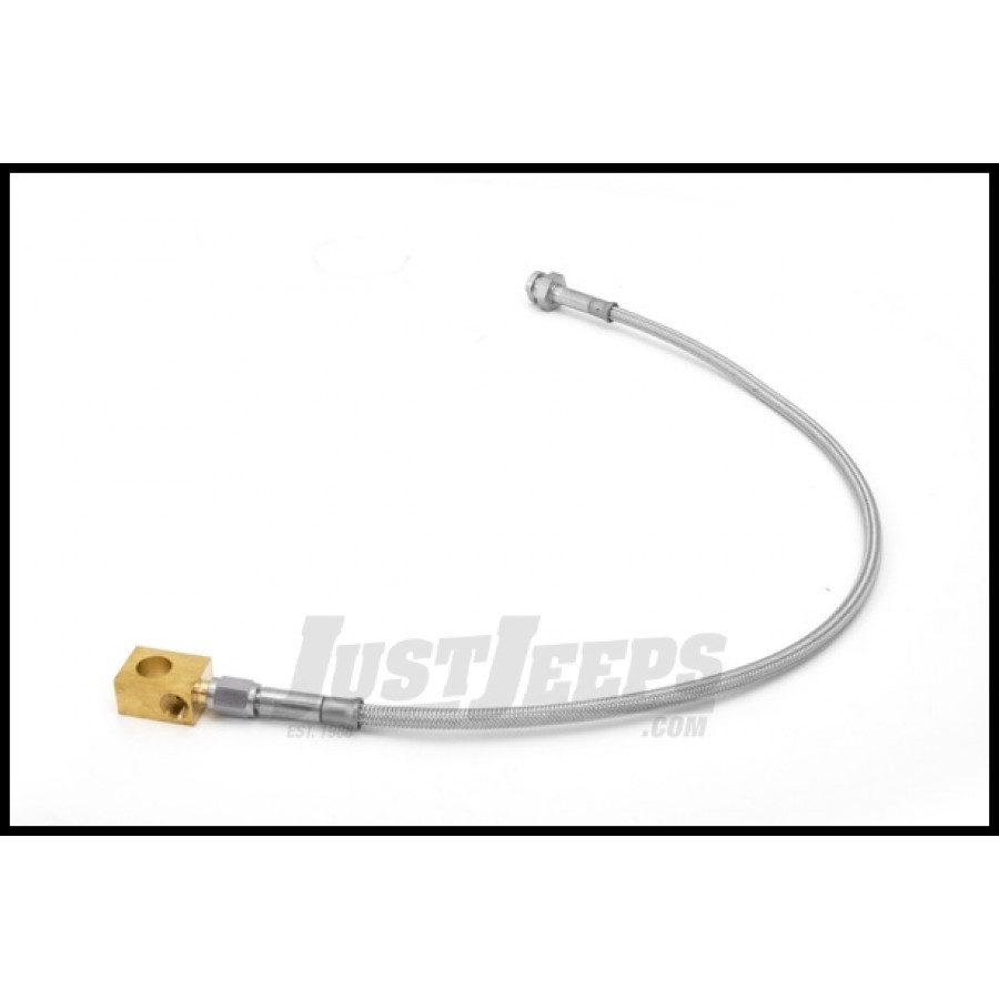 Braided Brake Lines For Jeeps : Just jeeps buy rugged ridge rear quot braided stainless