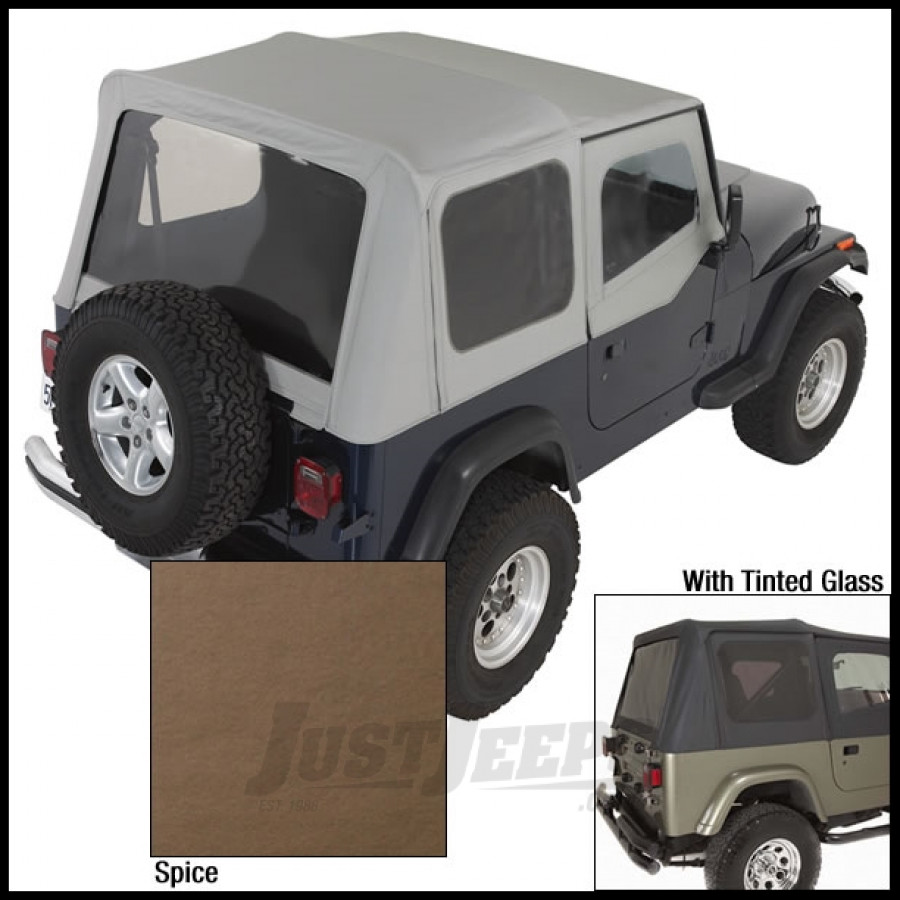 just jeeps buy rugged ridge replacement soft top skin spice with tinted windows for 1988 95 jeep. Black Bedroom Furniture Sets. Home Design Ideas