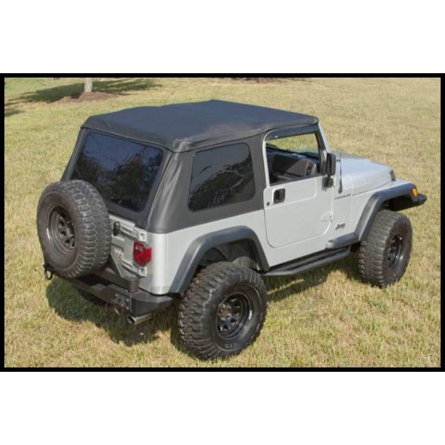 Just Jeeps Buy Rugged Ridge Xhd Bowless Soft Top In Black