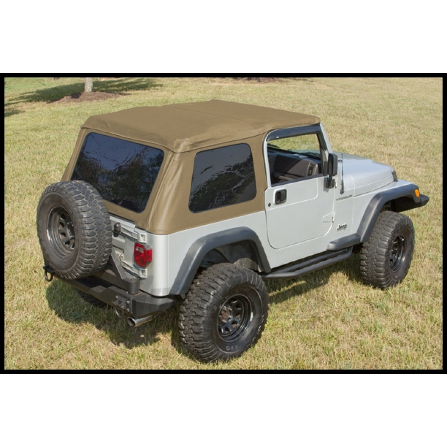 just jeeps buy rugged ridge xhd bowless soft top in spice for 1997 06 jeep wrangler tj must re. Black Bedroom Furniture Sets. Home Design Ideas