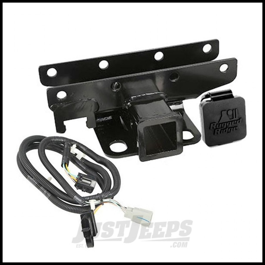 just jeeps buy rugged ridge rear hitch 2 u0026quot  with wiring