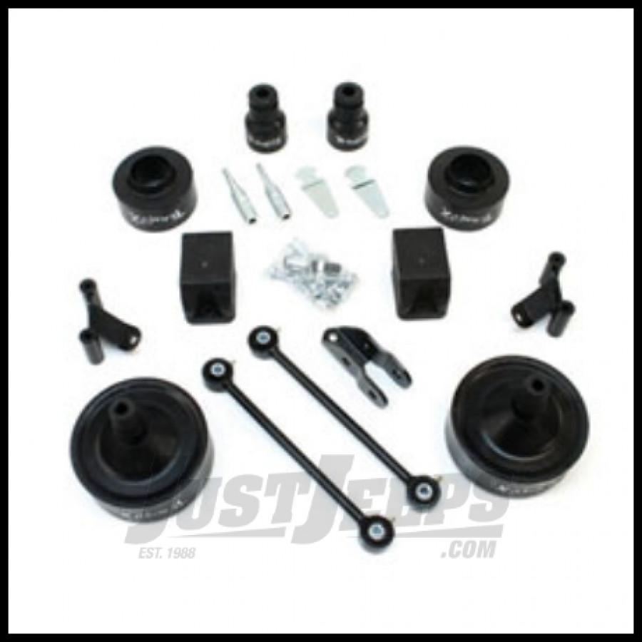Teraflex 2 5 budget boost lift kit with shock adapters for 2007 jeep wrangler jk 2 door unlimited 4 door