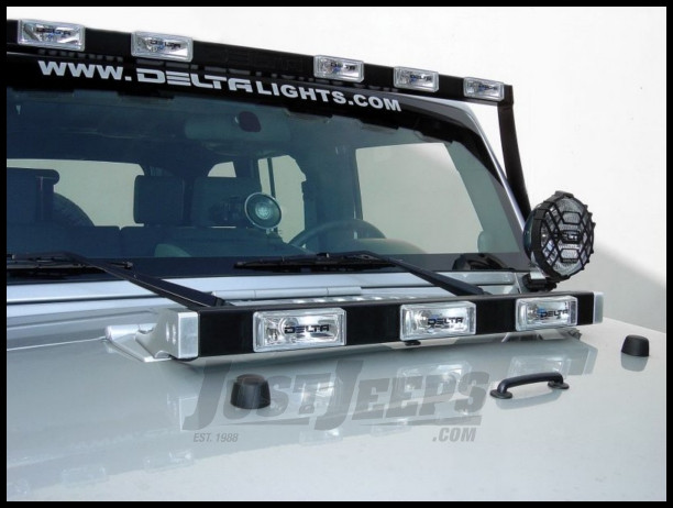 just jeeps buy delta tech hood light bar with xenon lights for 1997