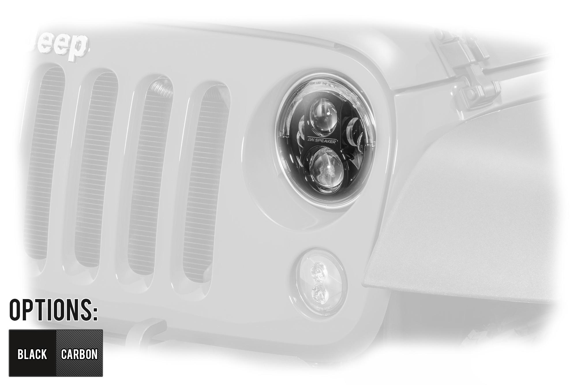 "J.W. Speaker Model 8700 Evolution J2 Series 7"" LED Headlight (Pair) For 2007-18 Jeep Wrangler JK 2 Door & Unlimited 4 Door Models"