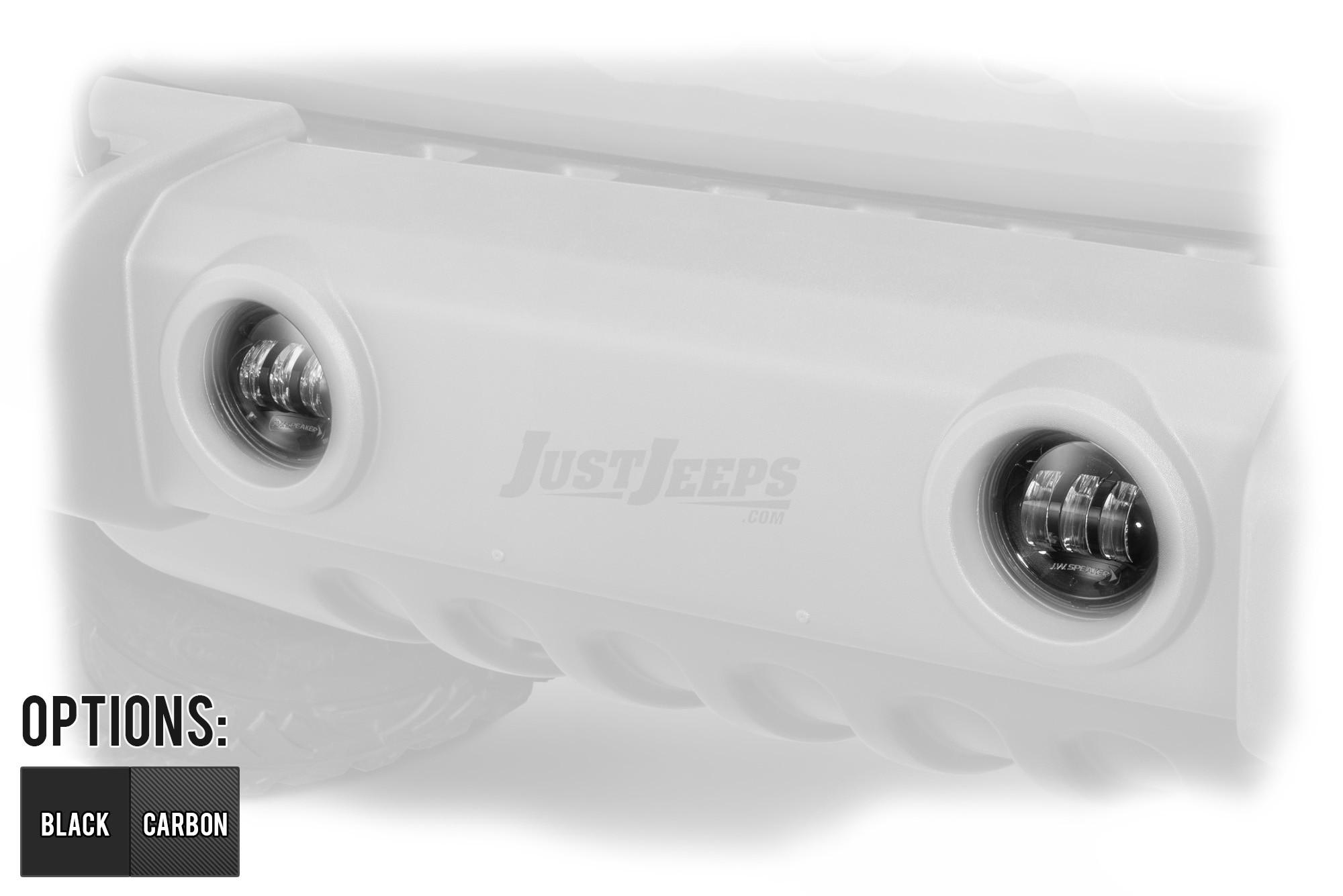 JW Speaker 6145 J2 LED Fog Lamp With Red Logo (Pair) For 2007-18 Jeep Wrangler 2 Door & Unlimited 4 Door Models