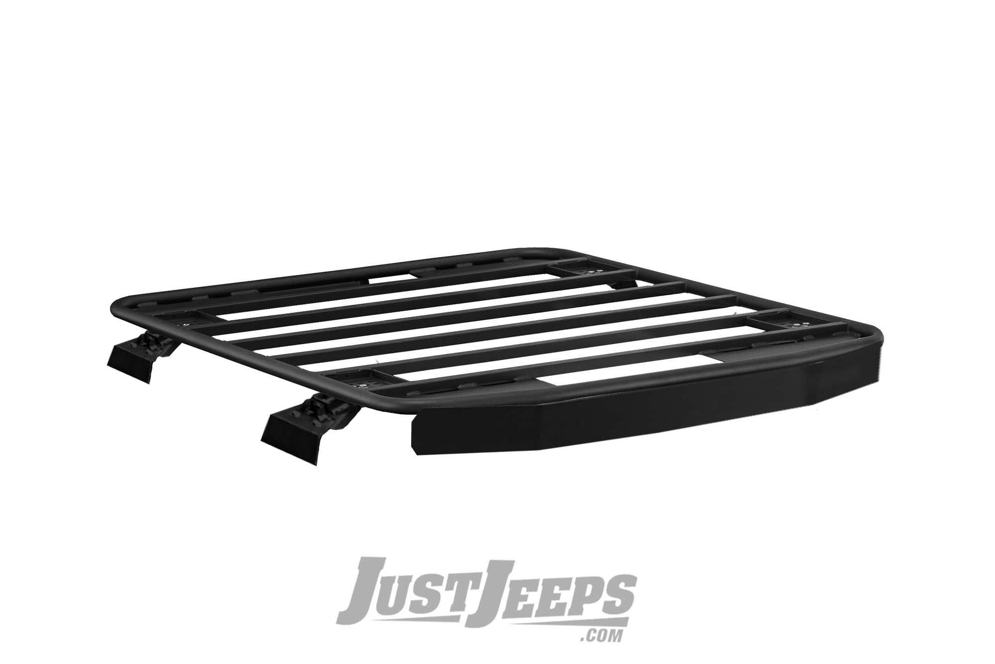 Warrior Products Platform Roof Rack with Rain Gutter Mounts For 2018+ Jeep Wrangler JL Unlimited 4 Door Models