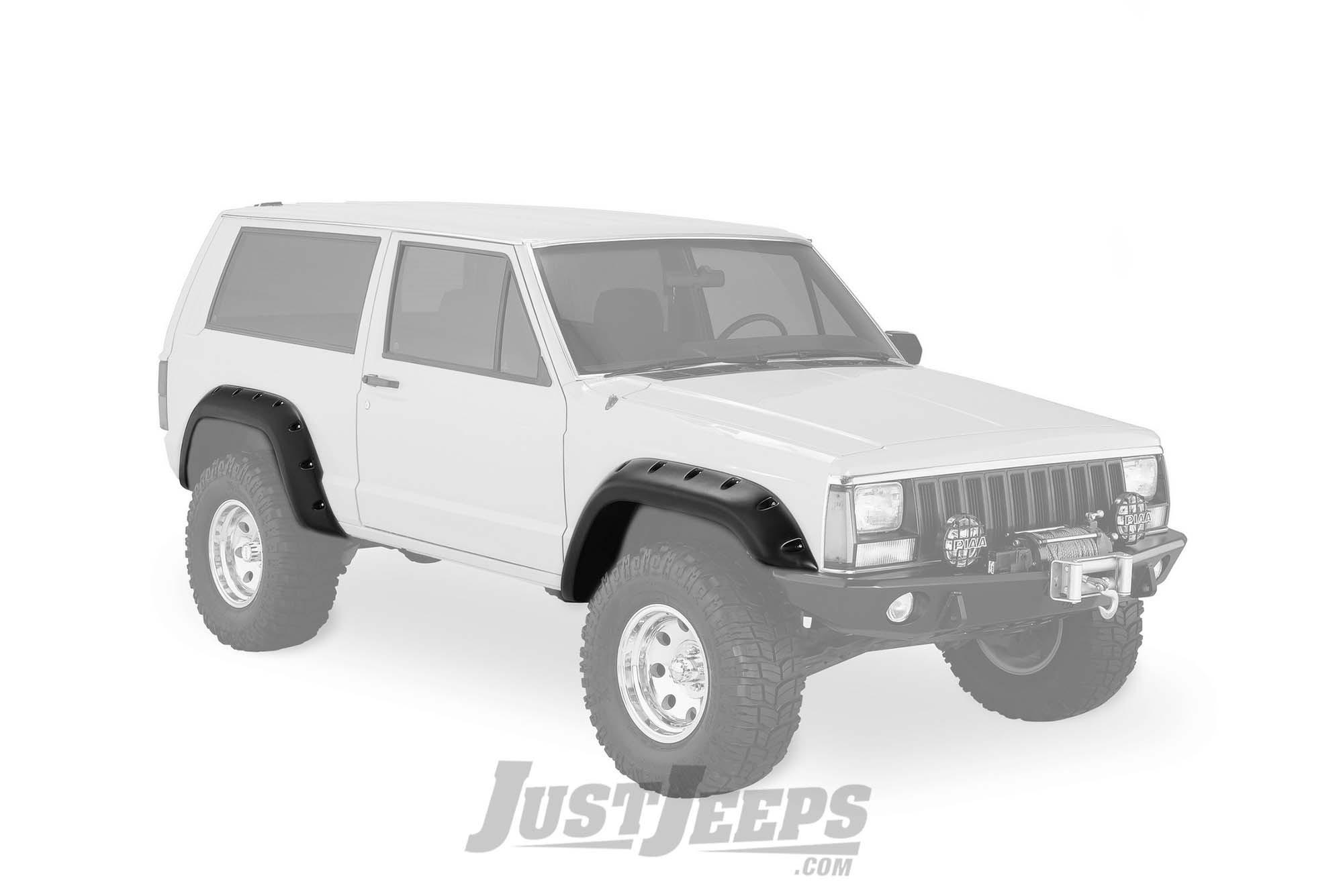 """Bushwacker 5"""" Cut-Out Style Fender Flares For 1984-01 Jeep Cherokee XJ 2 Door Models"""