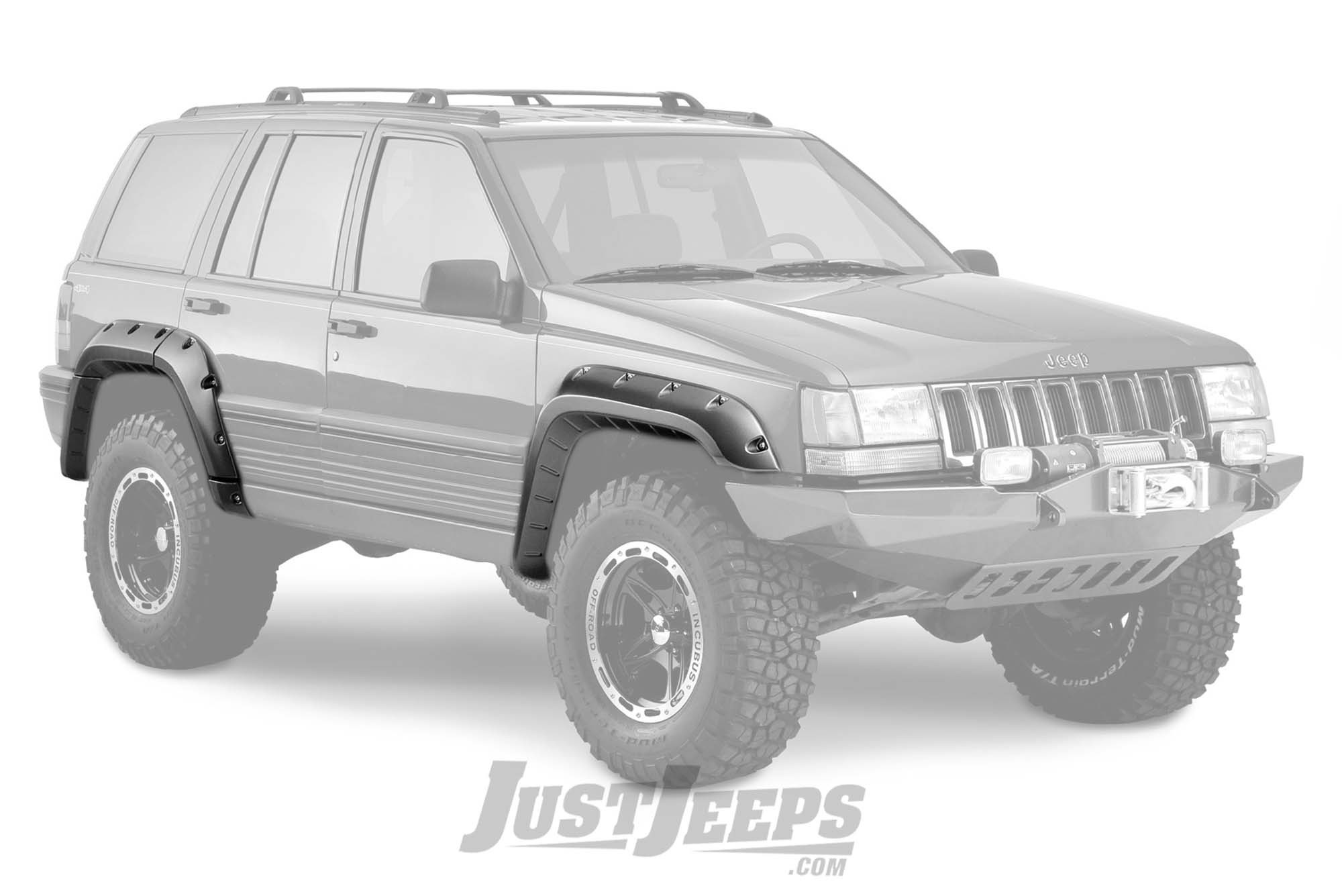 Bushwacker Cut-Out Style Fender Flares For 1993-98 Jeep Grand Cherokee ZJ Models