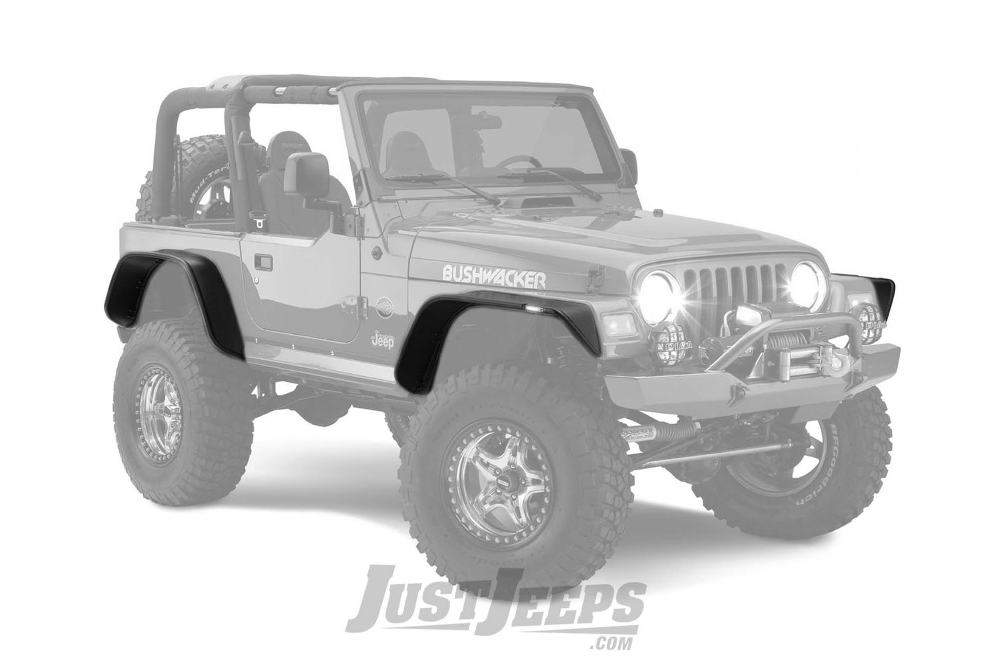 """Bushwacker 6"""" Flat Style Fender Flares For 1997-06 Jeep Wrangler TJ & TJ Unlimited Models"""