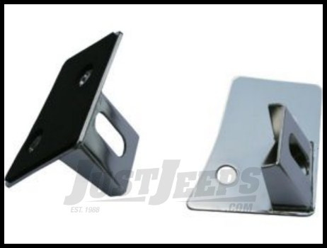 Rugged Ridge Windshield Light Brackets in Stainless Steel For 2007-18 Jeep Wrangler JK 2 Door & Unlimited 4 Door Models