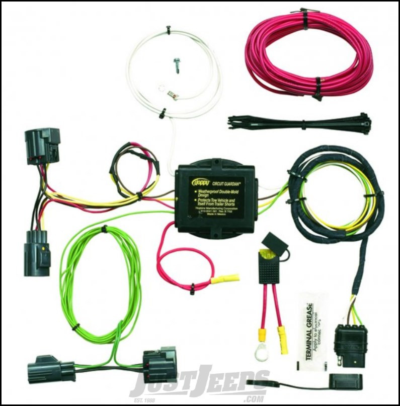 Hopkins Simple Plug-in Trailer Wiring Harness Kit For 2008-12 Jeep on