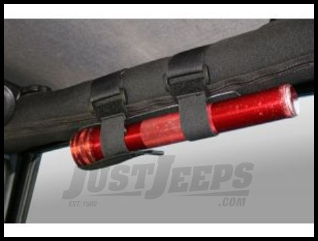 Rugged Ridge Universal Sport Bar Flash Light Holder in Black