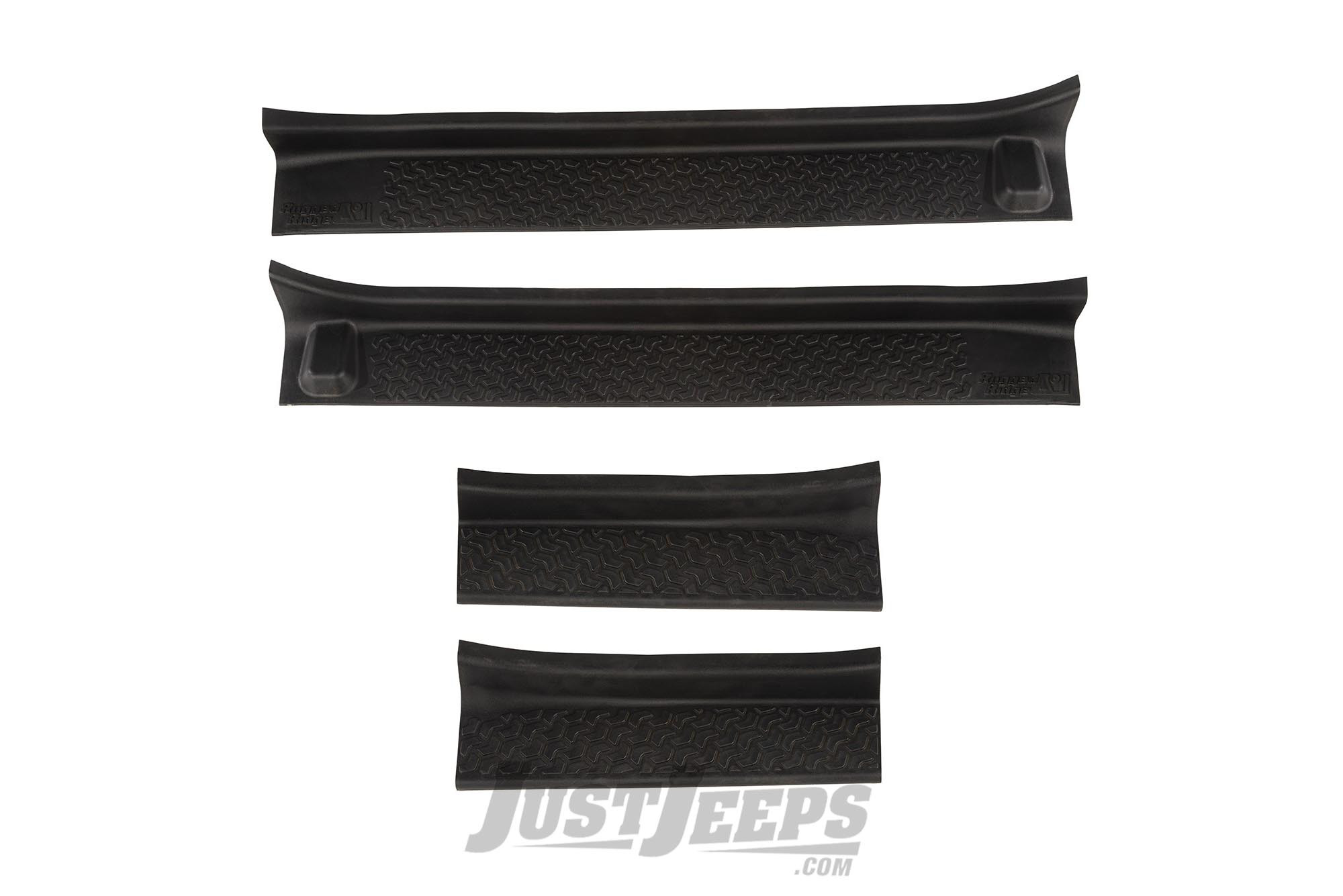 Rugged Ridge Front & Rear Entry Guards For 2018+ Jeep Gladiator JT & Wrangler JL Unlimited 4 Door Models 11216.32