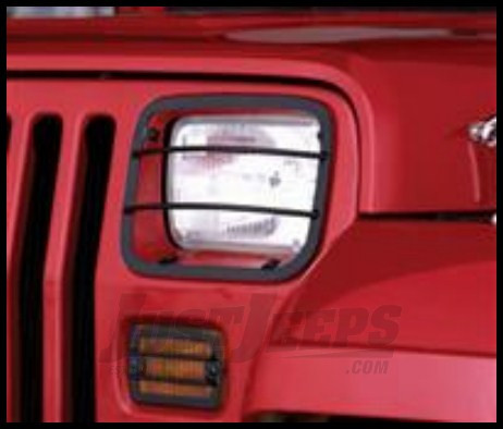 Rugged Ridge (Black) Headlight and Turn Signal Guards For 1987-95 Jeep Wrangler YJ Models 11230.02