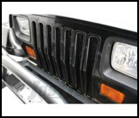 Just Jeeps Rugged Ridge Grille Inserts Black For 1987 95