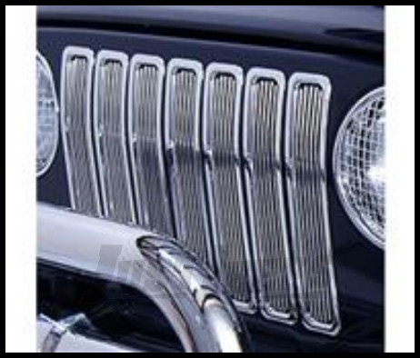 Rugged Ridge Grille Inserts Billet aluminum For 1998-06 TJ Wrangler, Rubicon and Unlimited