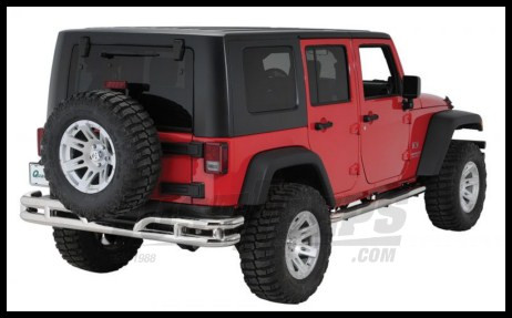 Just Jeeps Buy Rugged Ridge Rear Tube Bumper Stainless