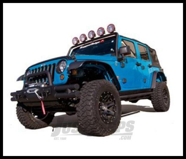Just Jeeps Buy Rugged Ridge Flat Fender Flare Kit 4 Piece