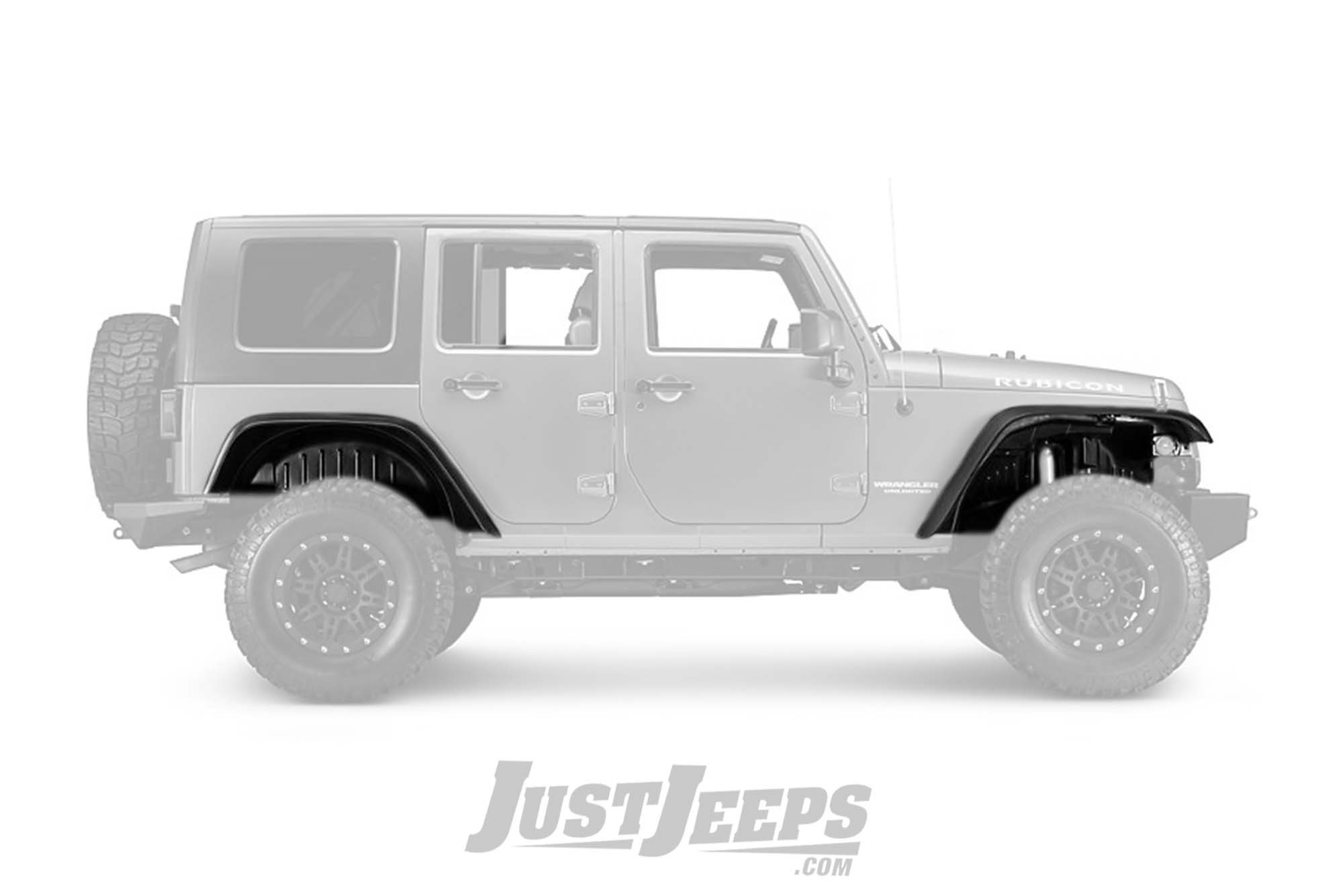 Just Jeeps Rugged Ridge Flat Fender Flare Amp Liners Kit For