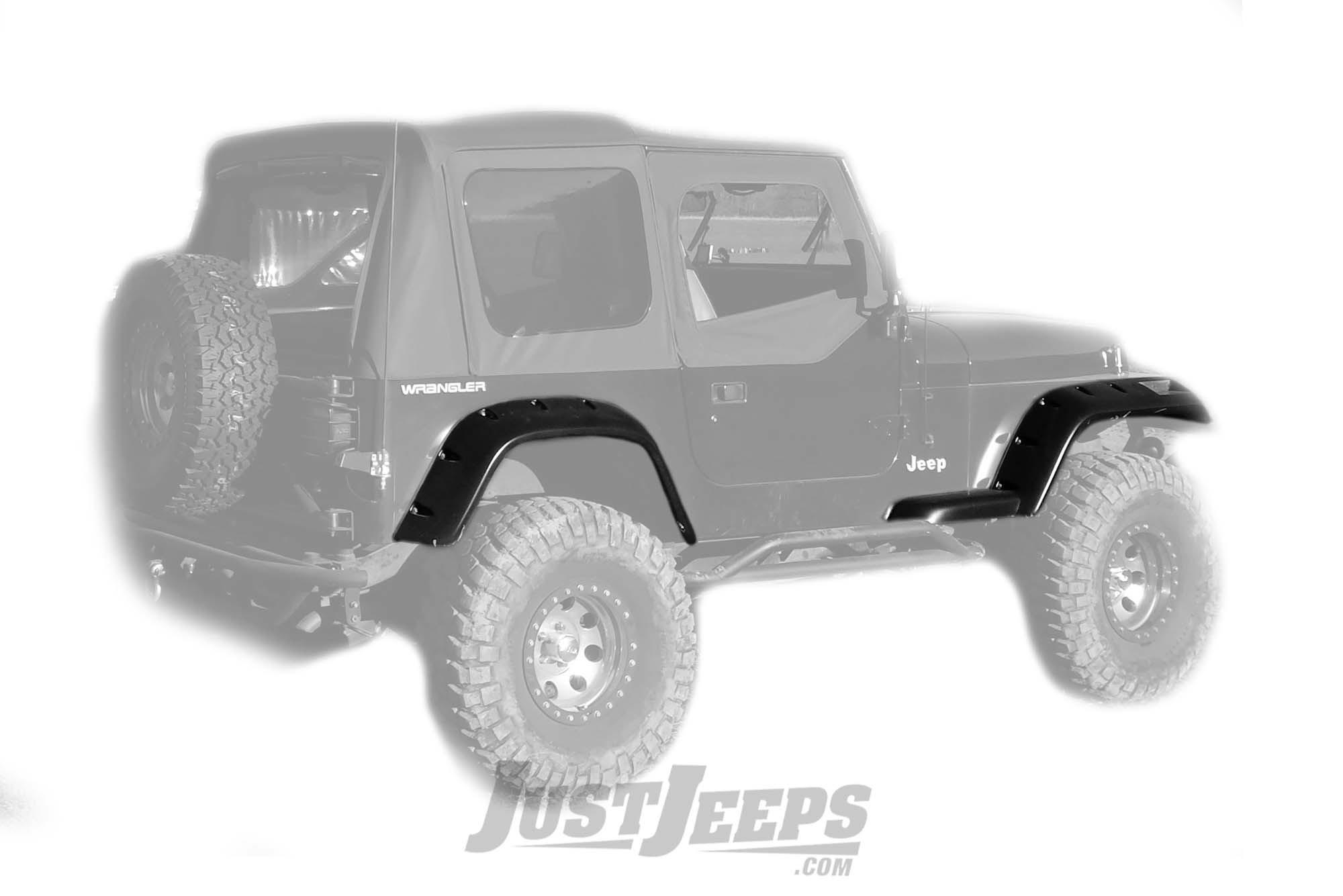 """Rugged Ridge 6"""" All Terrain Fender Flare Kit For 1987-95 Jeep Wrangler YJ Models"""