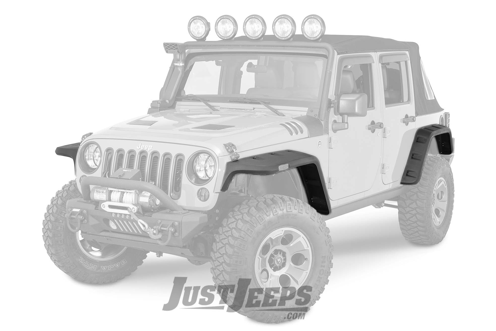 Just Jeeps Rugged Ridge Hurricane Flat Fender Flares For