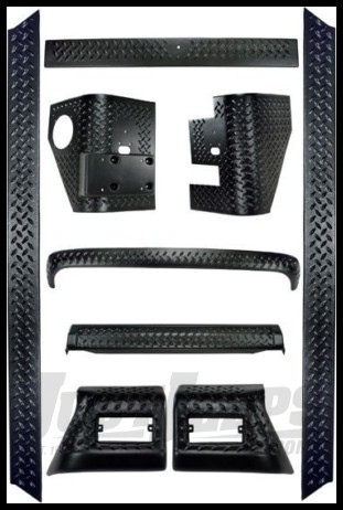 Rugged Ridge 9 Piece Body Armor Kit For 1997-06 Jeep Wrangler TJ Models 11650.60