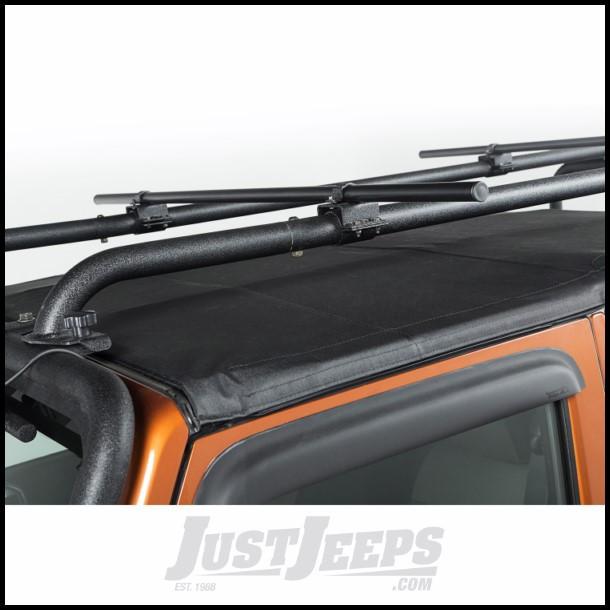 """Rugged Ridge Sherpa Roof Rack Crossbars Round 56.5"""" For 2007-18 Jeep Wrangler JK 2 Door & Unlimited 4 Door Models"""