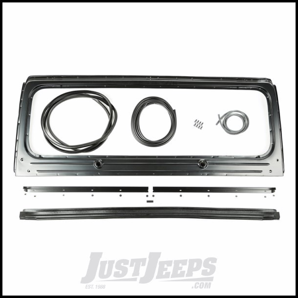 Just Jeeps Buy Omix-ADA Windshield Frame Kit For 1987-95 Jeep ...