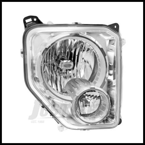 Omix-ADA Headlight Assembly Passenger Side For 2008-10 Jeep Liberty KK With Fog Lights 12402.25
