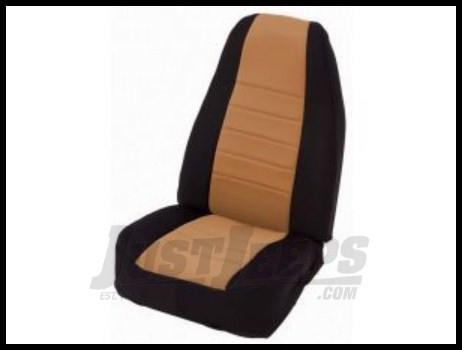 Rugged Ridge Neoprene Custom-Fit Front Seat Covers Tan on black 1997-02 TJ Wrangler
