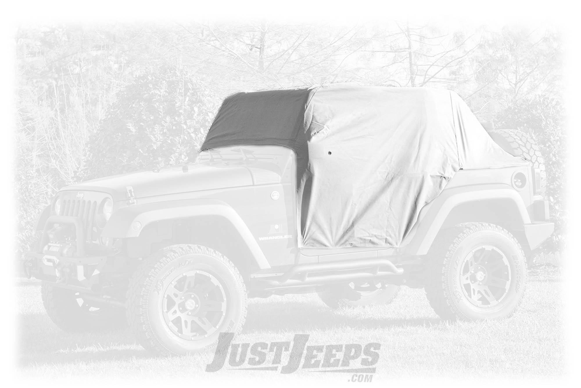 Rugged Ridge Weather Lite Cab Cover For 2007+ Jeep Wrangler JK/JL 2 Door Models